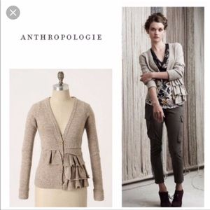 Anthropologie Moth split decision cardigan wool